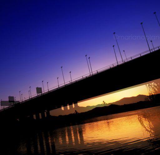 Puente sobre rio Besós