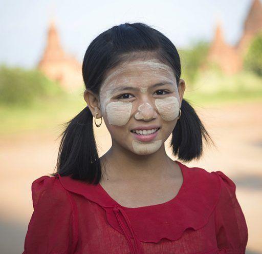 Fotografía Myanmar mujer con thanaka