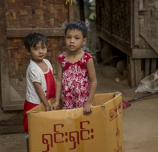 Fotografía Myanmar niños jugando