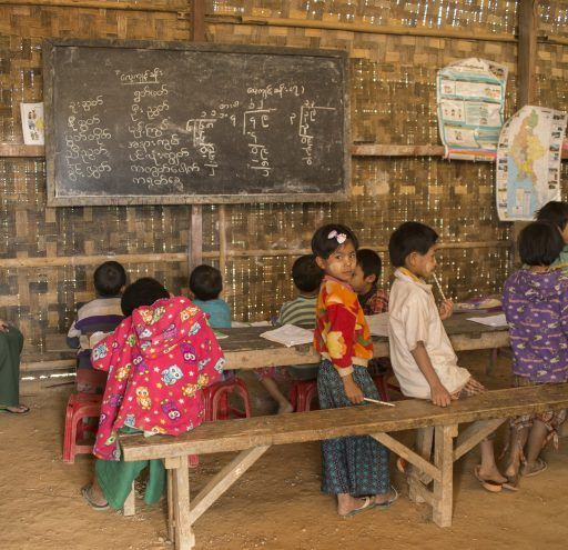 fotografía Myanmar escuela rural