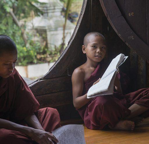 Fotografía monasterio budista Myanmar