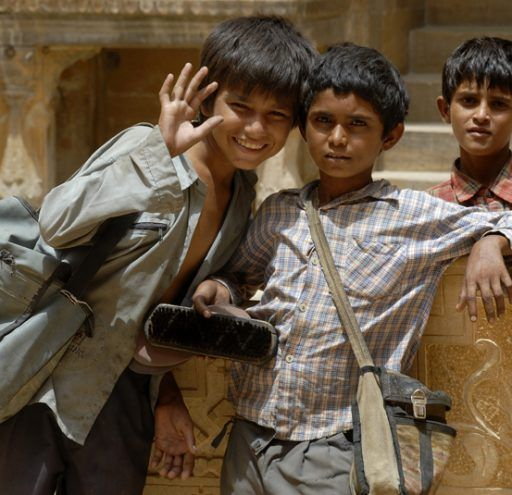 fotografia documental India Jaipur niños 2
